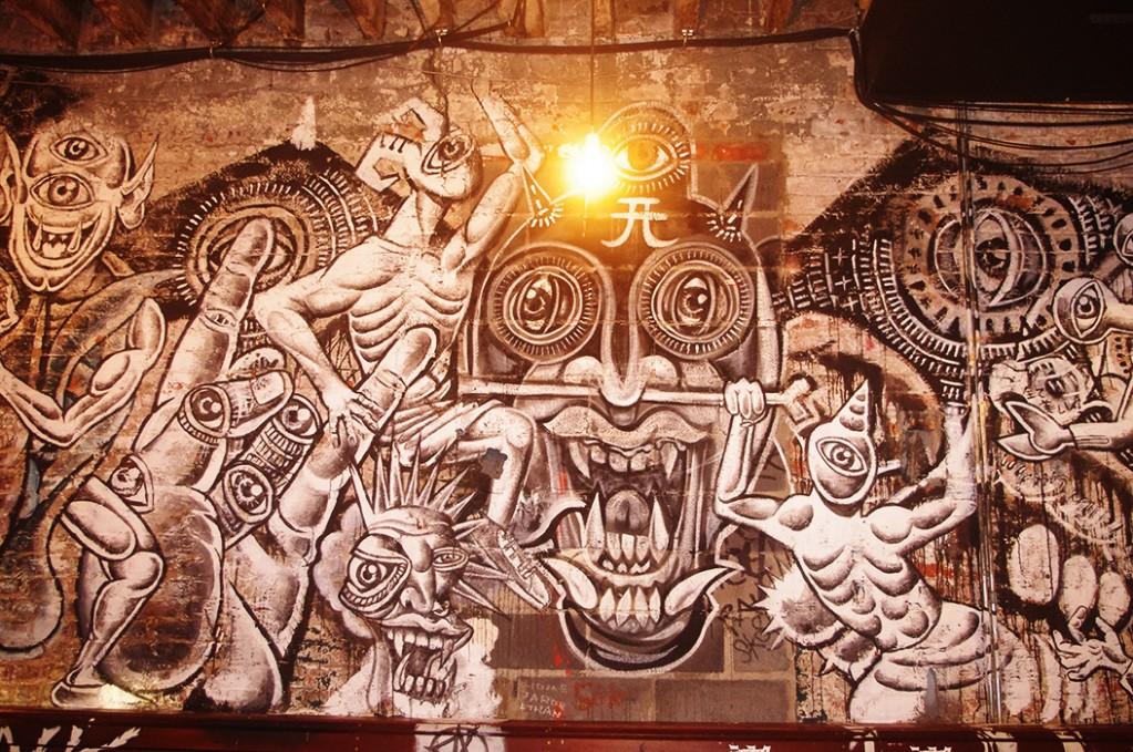 Mural at Bar Matchless